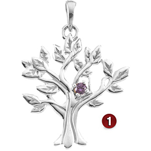 Family Branches Sterling Silver Mother's Pendant