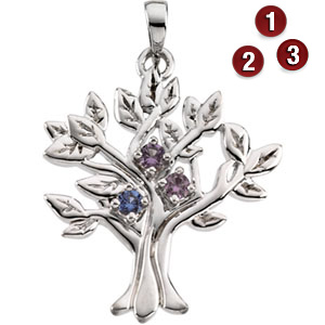 Family Branches Pendant - Sterling Silver