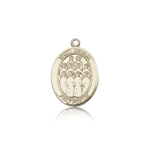 14kt Yellow Gold 3/4in St Cecilia Choir Medal