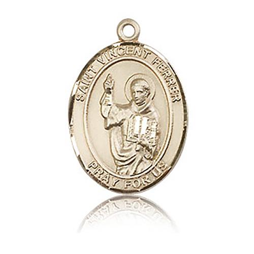 14kt Yellow Gold 3/4in St Vincent Ferrer Medal