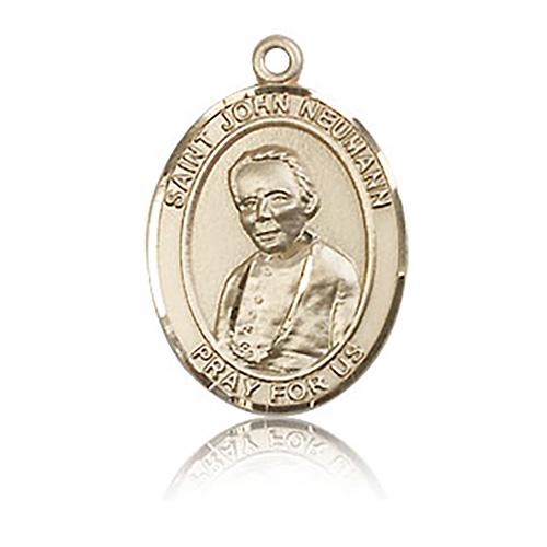 14kt Yellow Gold 3/4in St John Neumann Medal