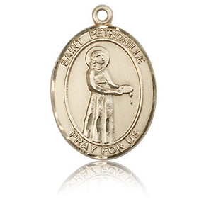 14kt Yellow Gold 3/4in St Petronille Medal