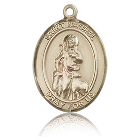 14kt Yellow Gold 3/4in St Rachel Medal