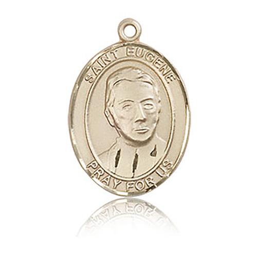 14kt Yellow Gold 3/4in St Eugene Medal