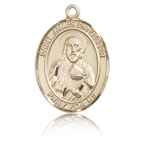 14kt Yellow Gold 3/4in St James the Lesser Medal
