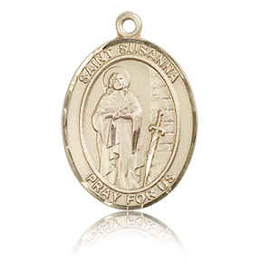 14kt Yellow Gold 3/4in St Susanna Medal
