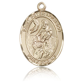 14kt Yellow Gold 3/4in St Peter Nolasco Medal