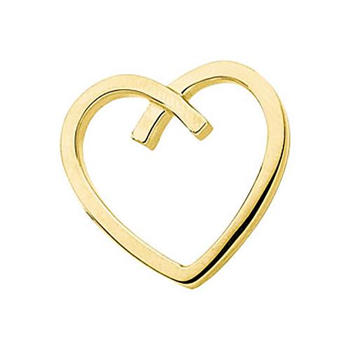 7/8in Heart Pendant - 14k Yellow Gold