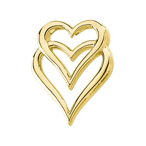 1in Heart Pendant - 14k Yellow Gold