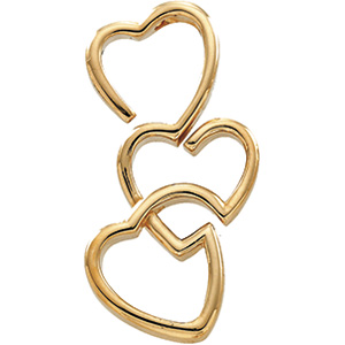 1 1/2in Triple Heart Pendant Slide