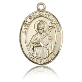 14kt Yellow Gold 3/4in St Malachy O'More Medal