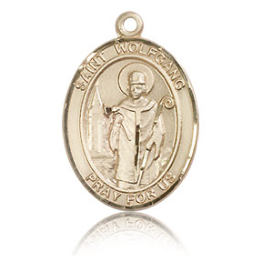14kt Yellow Gold 3/4in St Wolfgang Medal