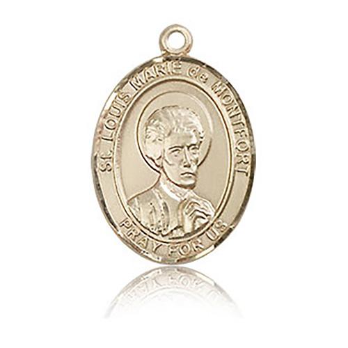 14kt Yellow Gold 3/4in St Louis de Montfort Medal