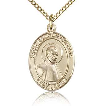 Gold Filled 3/4in St Edmund Medal & 18in Chain