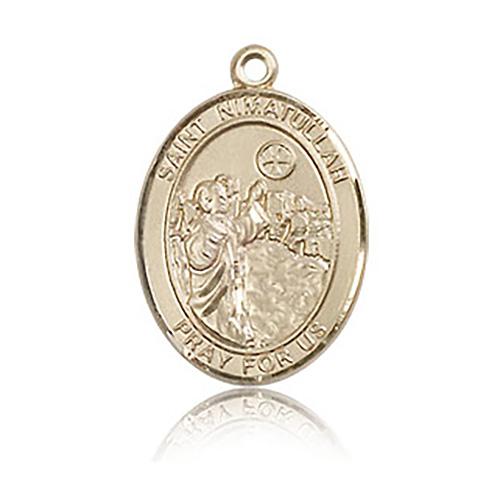 14kt Yellow Gold 3/4in St Nimatullah Medal