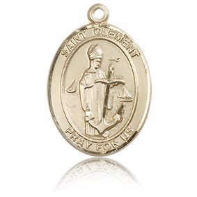 14kt Yellow Gold 3/4in St Clement Medal