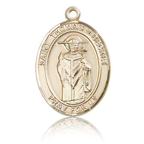14kt Yellow Gold 3/4in St Thomas A Becket Medal