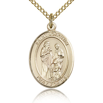 Gold Filled 3/4in St Joachim Medal & 18in Chain