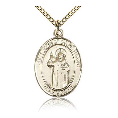 Gold Filled 3/4in St John of Capistrano Medal & 18in Chain