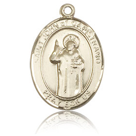 14kt Yellow Gold 3/4in St John of Capistrano Medal