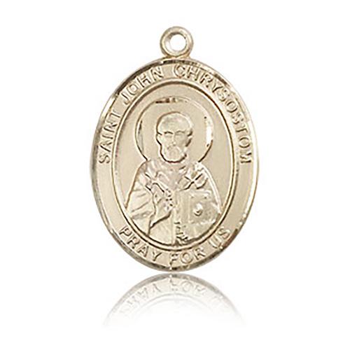 14kt Yellow Gold 3/4in St John Chrysostom Medal