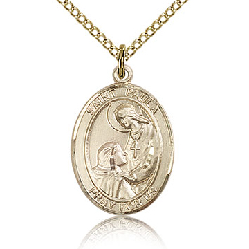 Gold Filled 3/4in St Paula Medal & 18in Chain