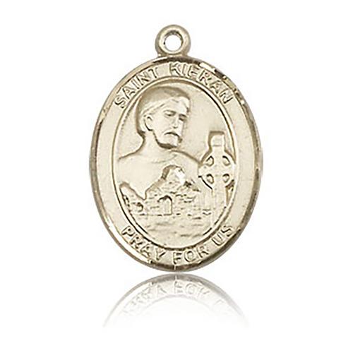 14kt Yellow Gold 3/4in St Kieran Medal