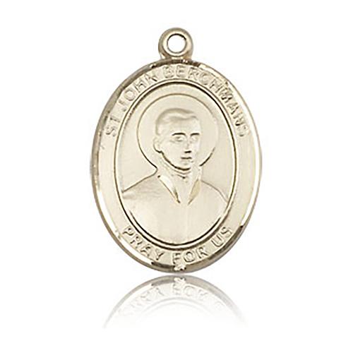14kt Yellow Gold 3/4in St John Berchmans Medal