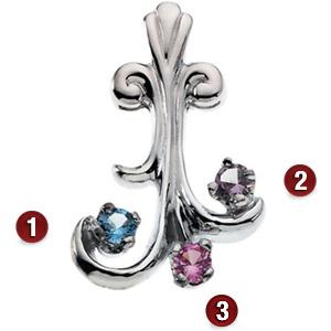 Fleur Hook Sterling Silver Mother's Pendant