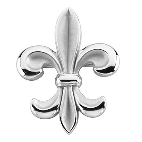 Sterling Silver 1 1/4in Fleur de Lis Brooch