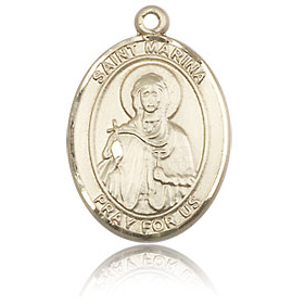 14kt Yellow Gold 3/4in St Marina Medal