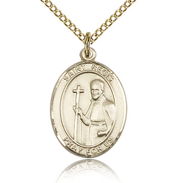 Gold Filled 3/4in St Regis Medal & 18in Chain