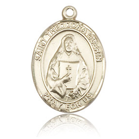14kt Yellow Gold 3/4in St Theodora Guerin Medal