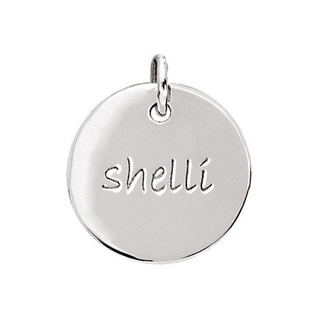 Sterling Silver Engravable Disc by Posh Mommy