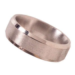 8mm Titanium Band Stone Finish Beveled