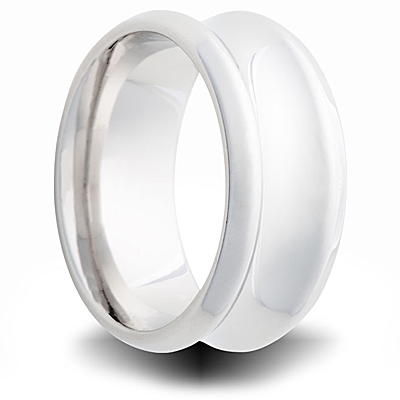 Cobalt 8mm Polished Concave Band