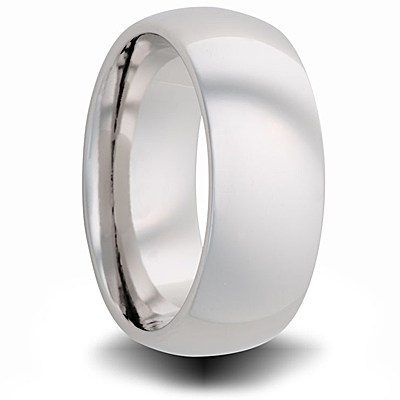 Cobalt 8mm Polished Domed Band