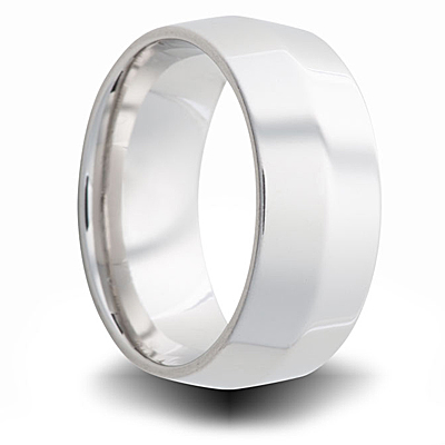 Cobalt 8mm Polished Tapered Band
