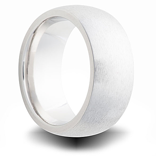 Cobalt Brushed Domed Wedding Band 8mm