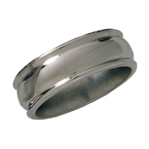 8mm Titanium Band Domed Center