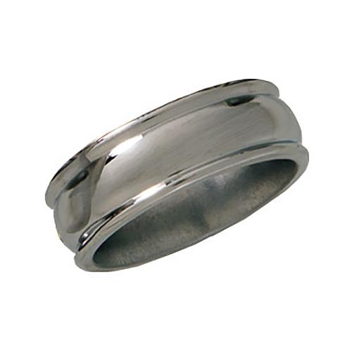 8mm Titanium Band Domed Center