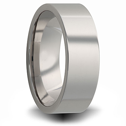 Titanium 8mm Pipe Cut Ring