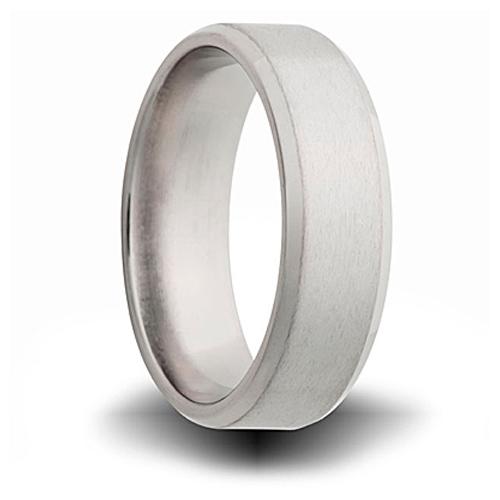 Titanium 8mm Pipe Cut Ring with Beveled Edge