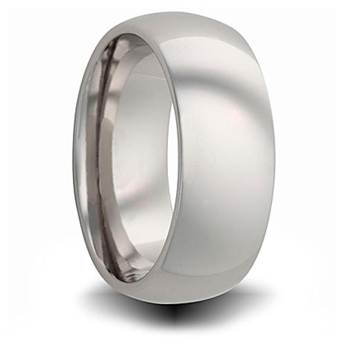 Titanium 8mm Domed Ring