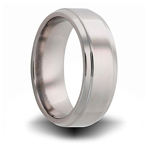 Titanium 8mm Pipe Cut Ring with Beveled Edges