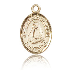 14kt Yellow Gold 1/2in St Frances Cabrini Charm