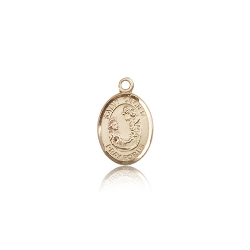 14kt Yellow Gold 1/2in St Cecilia Medal