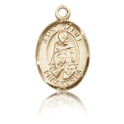 14kt Yellow Gold 1/2in St Daniel Medal