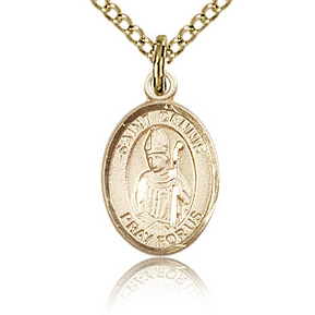 Gold Filled 1/2in St Dennis Charm & 18in Chain