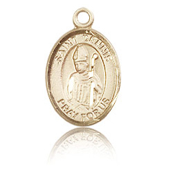 14kt Yellow Gold 1/2in St Dennis Medal